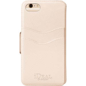 IDEAL Fashion Plånboksfodral till iPhone 6, 6S, 7, 8 & SE 2 - Saffiano Beige