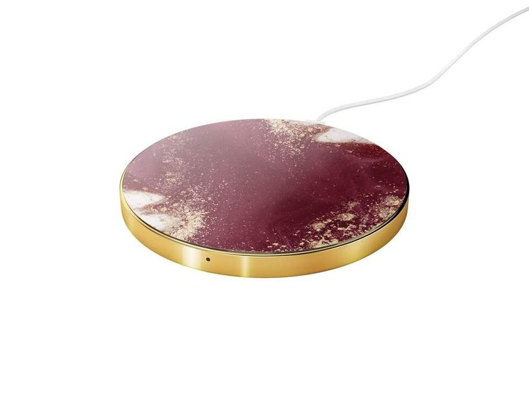iDeal of Sweden fashion Qi laddare - Golden Burgundy Marble