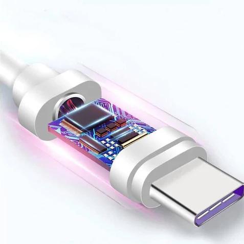 SiGN SuperCharge USB-C-kabel 5A 2 m - Vit