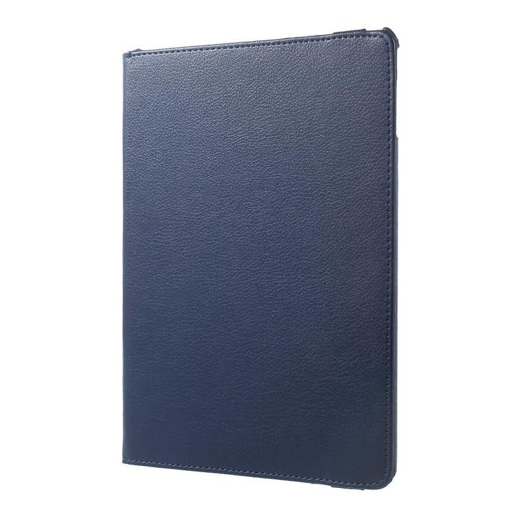 """Litchi Fodral med Roterbar Stativ för iPad 9.7"""" & iPad Air-Air2 - Blå"""