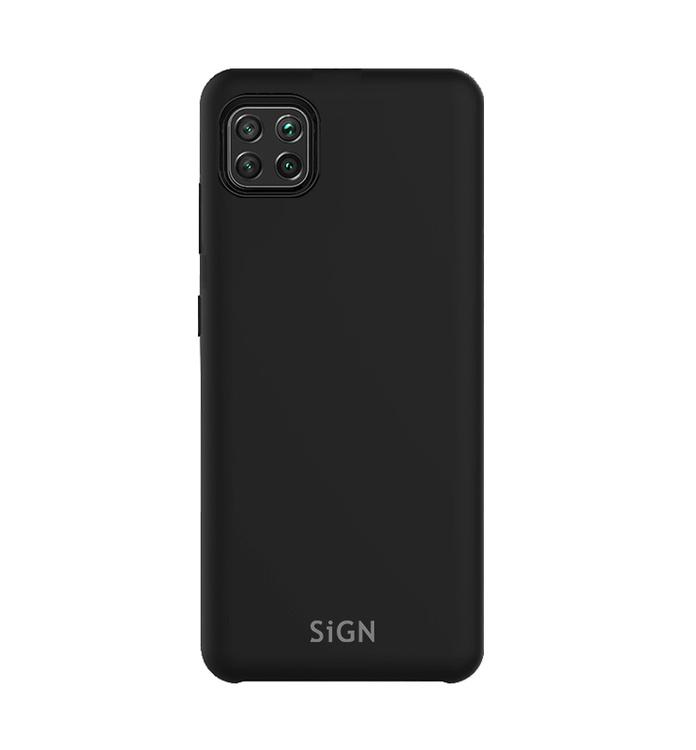 SiGN Liquid Silicone Case för Huawei P40 Lite - Svart