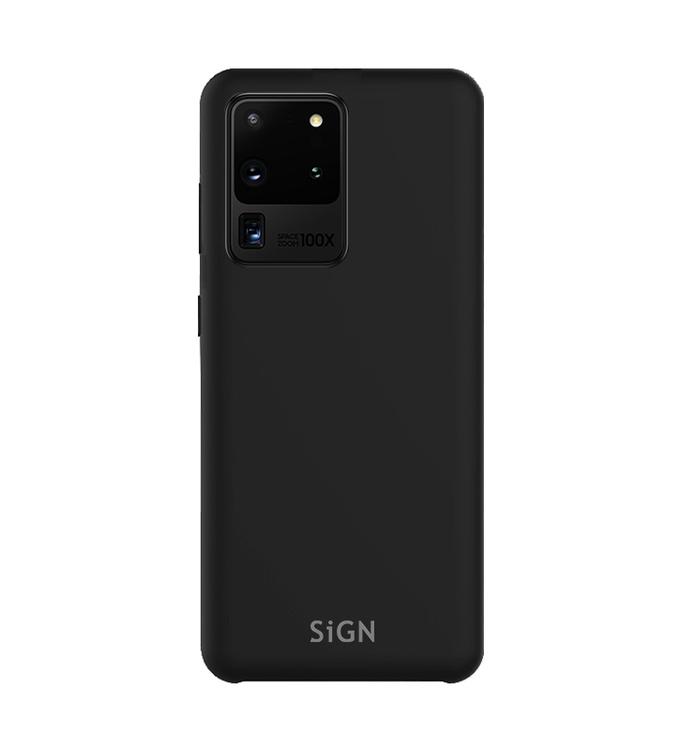 SiGN Liquid Silicone Case för Samsung Galaxy S20 Ultra - Svart