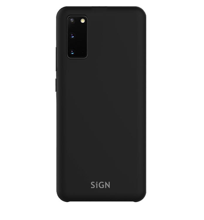 SiGN Liquid Silicone Case för Samsung Galaxy S20 - Svart
