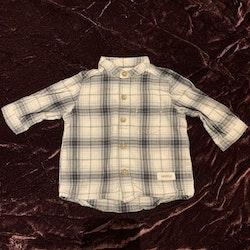 Blårutig skjorta från Newbie stl 56