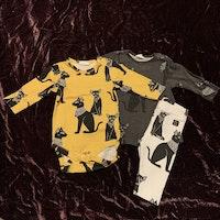 Body, leggings och tröja med sphynxkatter från Kaxs stl 56