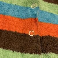 Retro pyjamas i flerfärgad frotté stl 56