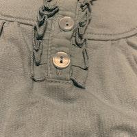 Ljusblå kortärmad klänning med ficka på magen från Kappahl stl 56