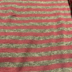 Rosa och grå randig kortärmad body från Name It stl 62