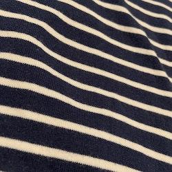 Mörkblå body med vita ränder från HM stl 56