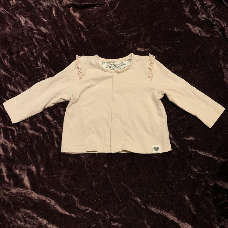 Tredelat set med kortärmad body, byxor och kofta i ljusrosa och småblommigt från Lindex str 62