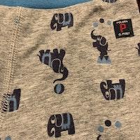Byxor i grått och blått med elefant mönster från PoP stl 62