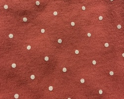 Rosa tröja med vita prickar från HM stl 62