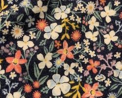 Mörkblå tröja med blommönster i otaliga färger från HM stl 62