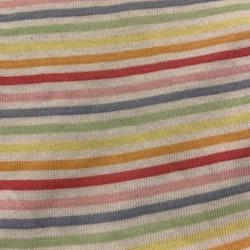 Vit kortärmad body med färgglada ränder från HM stl 62