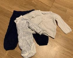 3 delat paket i vitt och blått från Åhléns stl 62