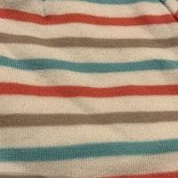 Vit mössa med ränder i rosa, beige och ljusblått från Ellos stl 42/44