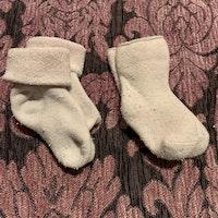 Två par frotté strumpor i ljusrosa stl 11-15