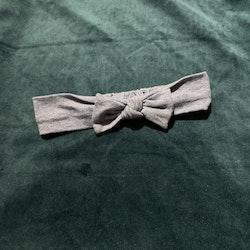 Blåvitt hårband med rosett