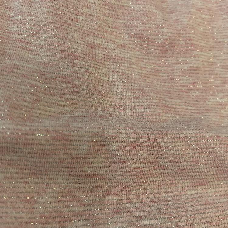 Ljusrosa melerad body med glittriga silver ränder och volanger från Åhléns stl 50/56