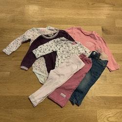7 delat paket i rosa och lila stl 68-71