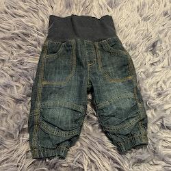Tjockare fodrade jeans från Kaxs stl 68