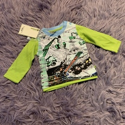 Ljusblå och ljusgrön tröja med krantryck från Fransa kids MiNi B stl 68
