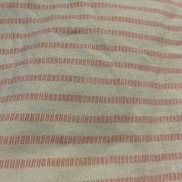Vit topp med volangärm och rosa ränder från HM stl 68