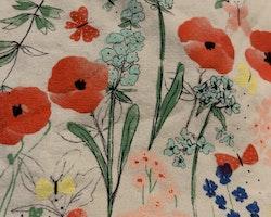Vit topp med färgglatt blom och fjärilsmönster från HM stl 68