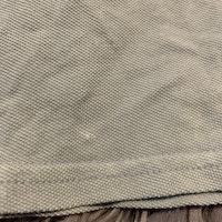 Ljusblå melerad stickad t-shirt med mörkblått märke från Ralph Lauren stl 68