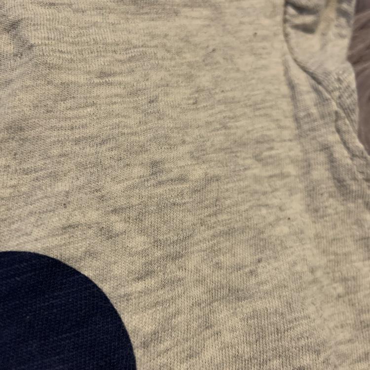 Gråmelerat linne med Mimmi tryck från HM stl 68