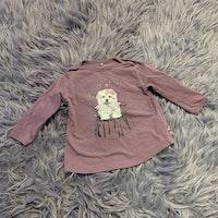 Lila tunika / klänning med hundtryck från Me Too stl 68