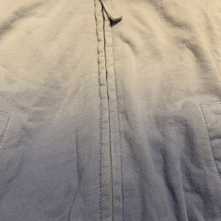 Blå collegetröja med huva, dragkedja, fickor och ombre effekt från NeXT stl 74