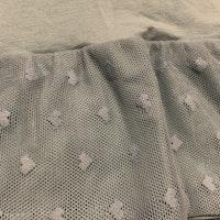 Dov turkos tröja / tunika med hjärtbroderad tyllkjol och volanger från PoP stl 74