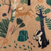 Klänning / tunika och leggings i ljusrosa med mönster av djur och natur från Lindex stl 68