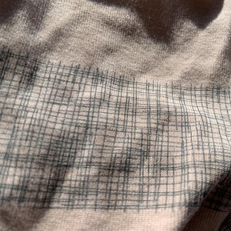 Body och leggings i gammelrosa med grått mönster från Small rags stl 50