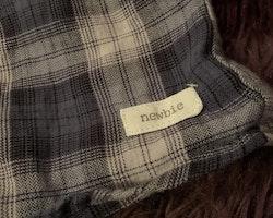 Blå och vit rutig skjorta från Newbie stl 80