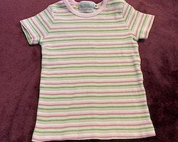 Randig topp i vitt samt olika nyanser av grönt och rosa från Lindex stl 98