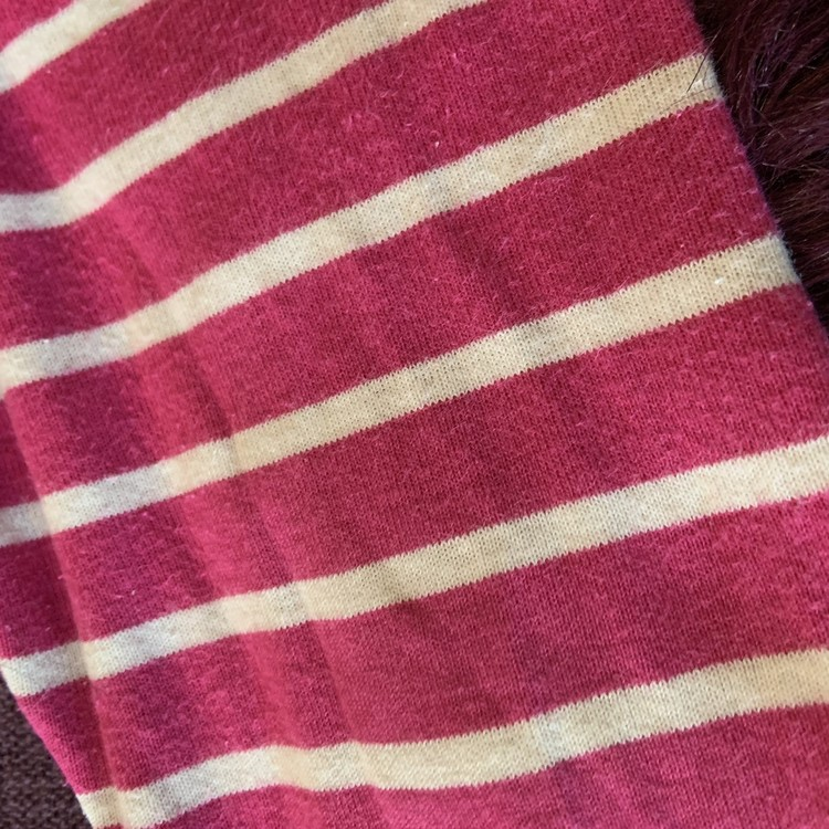 Rosa, röd och vit randiga leggings från PoP stl 86
