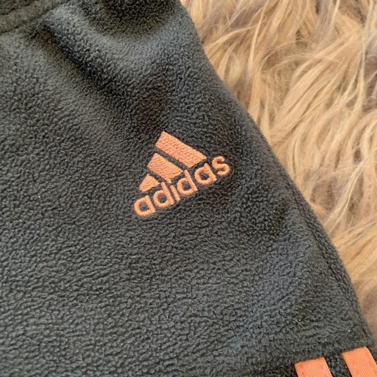 Fleeceset med huva, öron, tänder mm i rosa, ljusrosa, grått och vitt från Adidas stl 62