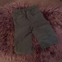 Mörkblå långa shorts från Peanuts baby stl 80