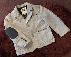 Mörkblå och vit rutig kavaj med fickor och armbågslappar från Papermoon stl 12-18 mån (80)