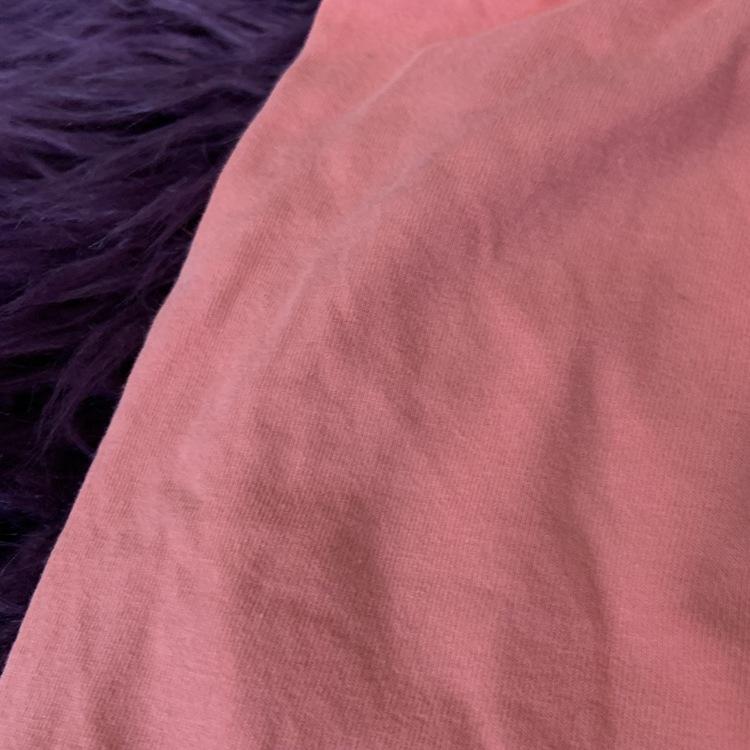 Rosa kjol med fickor och ett tryck med en apa och frukter från Mini Rodini stl 116/122 (funkar dock för mindre också, läs mer)