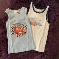 Två linnen med Lightning McQueen från Disney stl 110/116