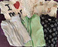6 delat pyjamaspaket från Kappahl stl 74/80
