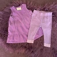 Lila set med klänning och leggings från HM resp. Cubus stl 62