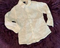 Vit linneskjorta från Papermoon stl 9-12 mån
