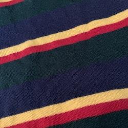 Randig piké i färgerna mörkgrön, röd, mörkblå och gult från Ralph Lauren stl 9 mån