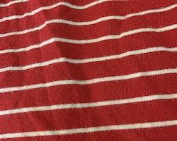 Röd piké med vita ränder, mörkblå krage samt mörkblå och vita marina applikationer från Zara Baby stl 74