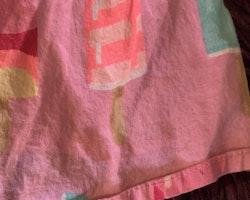 Rosa tunika med färgglada pinnglassar från Lindex stl 110