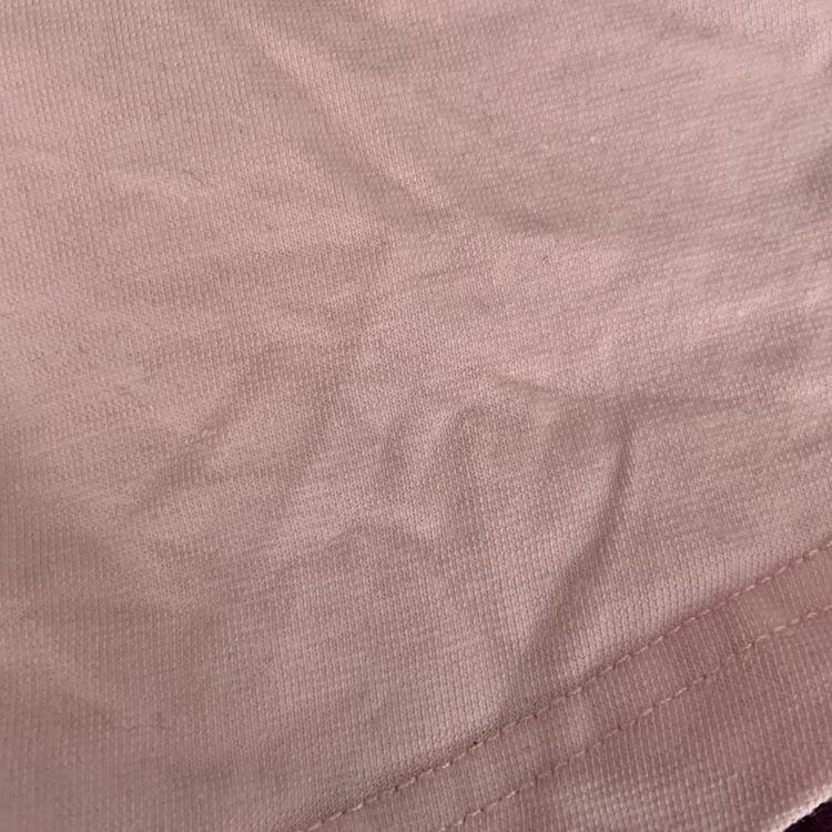 Ljusrosa kortärmad tennisklänning med vit krage och kantband samt en Bamse applikation från Lindex stl 86